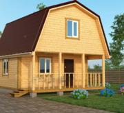 Садовый Дом из бруса Лайк 6х6, с террасой 12 м2 с установкой