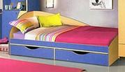 Кровать с двумя выдвижными ящиками