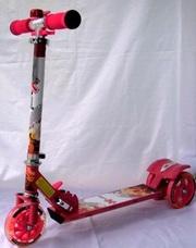 Самокат детский трехколесный со светящимися колесами