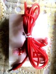 Наушники красные и классные для плеера