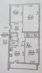 Продаю 3-х комнатную квартиру с новым евроремонтом (63, 9/41, 4/9, 2)