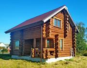 Продаю новый 2-х этажный дом,  размером 6х8м,  ручной рубки.