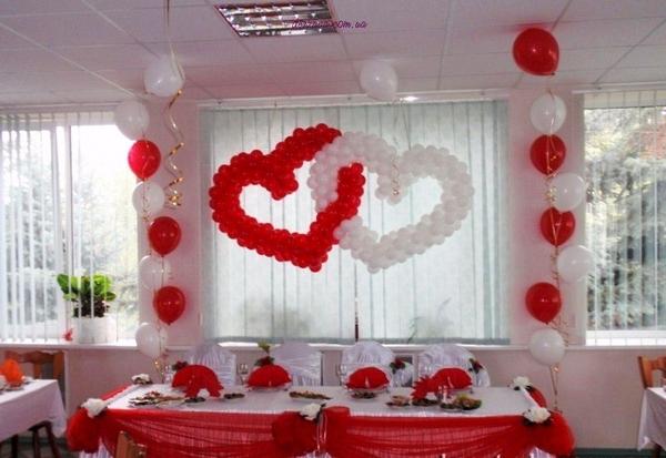 оформление шарами,  украшения +на свадьбу,  зал фото,  украшение зала,  свадебные украшения 2
